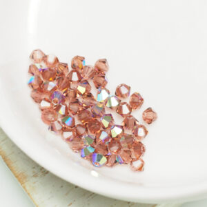 3 mm Preciosa bicone beads Light Burgundy AB x 50 pc(s)