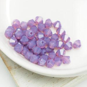4 mm Preciosa bicone beads Amethyst Opal x 50 pc(s)