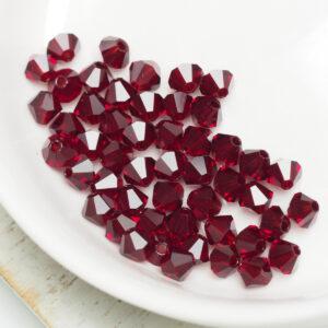 4 mm Preciosa bicone beads Siam x 50 pc(s)