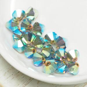 6 mm Preciosa bicone beads Black Diamond AB 2x x 20 pc(s)
