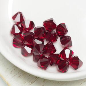 6 mm Preciosa bicone beads Siam x 20 pc(s)