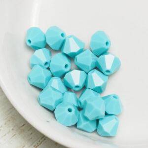 6 mm Preciosa bicone beads Turquoise x 20 pc(s)