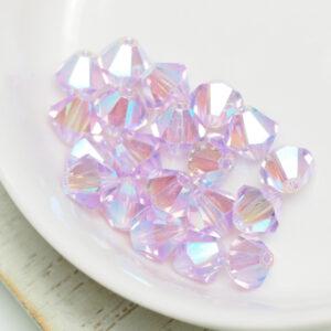 6 mm Preciosa bicone beads Violet AB 2x x 20 pc(s)