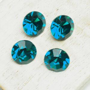 10 mm Preciosa crystal chaton Blue Zircon x 4 pc(s)