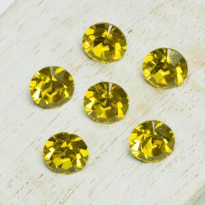8 mm Preciosa crystal chaton Citrine x 6 pc(s)