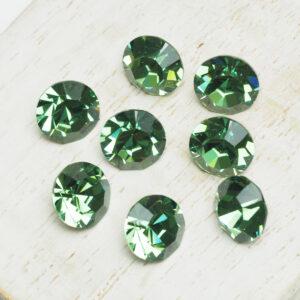 8 mm Preciosa crystal chaton Erinite x 6 pc(s)