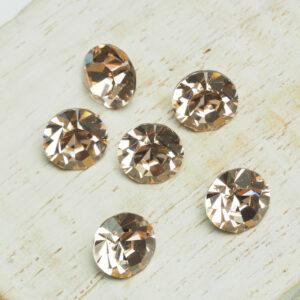 8 mm Preciosa crystal chaton Golden Quartz x 6 pc(s)