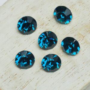 8 mm Preciosa crystal chaton Indicolite x 6 pc(s)