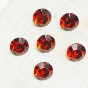 8 mm Preciosa crystal chaton Red Velvet x 6 pc(s)