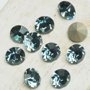 8 mm Preciosa crystal chaton Smoked Sapphire x 6 pc(s)