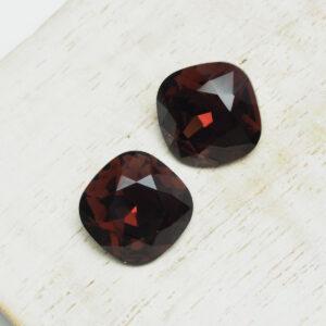 12 mm Preciosa crystal cabochon Burgundy x 2 pc(s)