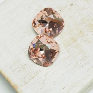 12 mm Preciosa crystal cabochon Vintage Rose x 2 pc(s)