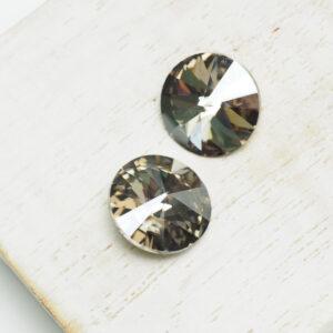 12 mm Preciosa crystal rivoli Crystal Velvet x 2 pc(s)
