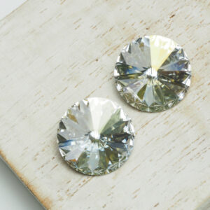 14 mm Preciosa crystal rivoli Crystal Argent Flare x 2 pc(s)