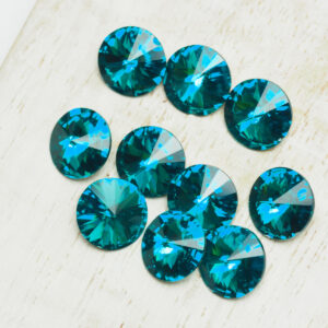 8 mm Preciosa crystal rivoli Blue Zircon x 6 pc(s)