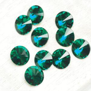 8 mm Preciosa crystal rivoli Emerald x 6 pc(s)