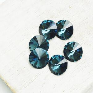 8 mm Preciosa crystal rivoli Montana x 6 pc(s)