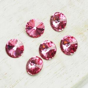 8 mm Preciosa crystal rivoli Rose x 6 pc(s)