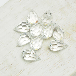6x10 mm Preciosa crystal pendant drop Crystal x 4 pc(s)