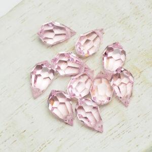 6x10 mm Preciosa crystal pendant drop Pink Sapphire x 4 pc(s)