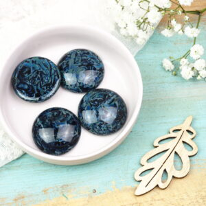 Pressed glass cabochons