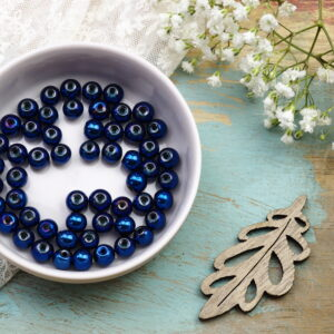 6 mm round electroplated beads