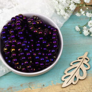 Round electroplated beads