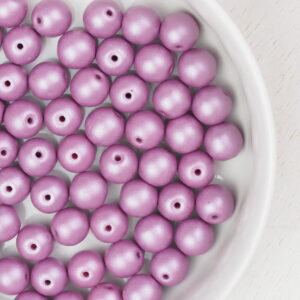 6 mm round glass pearls