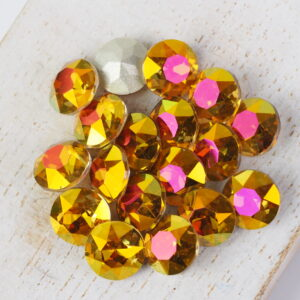 8 mm round glass cabochons