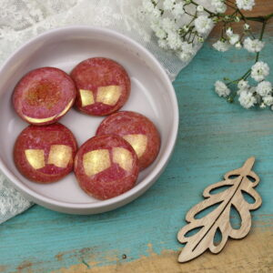 Round pressed glass cabochons