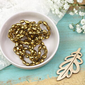 Olive electroplated beads