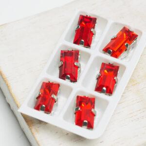 Baguette glass cabochons