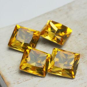 Princess square glass cabochons