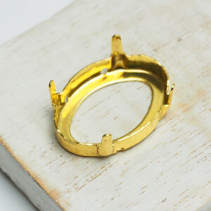 18x25 mm gold oval claw for cabochon x 1 pc(s)