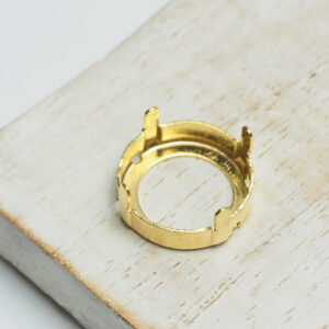16 mm gold round claw for cabochon x 1 pc(s)