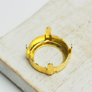 18 mm gold round claw for cabochon x 1 pc(s)