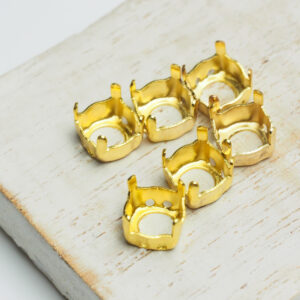 8 mm gold round claw for cabochon x 6 pc(s)