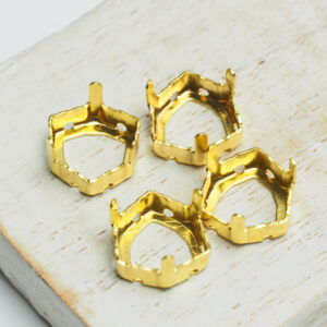 12 mm gold trillion claw for cabochon x 4 pc(s)