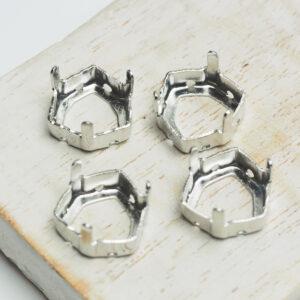 12 mm silver trillion claw for cabochon x 4 pc(s)